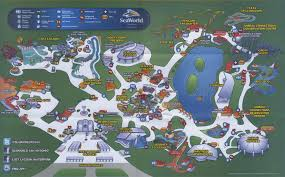 Map Of San Antonio Texas Theme Park Brochures Sea World San Antonio Theme Park Brochures