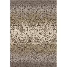 Nature Area Rugs Shop Orian Rugs Vinta Gray Indoor Nature Area Rug Common 8 X 11