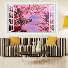 compare prices on cherry blossoms decal online shopping buy low creative living room flower wall sticker removable cherry blossoms wall decal home decor wall picture