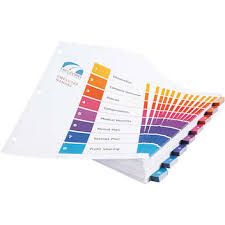 avery ready index table of contents divider multi color 8 tab