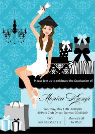 college graduation invitation diy high school grad