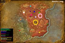 Wow Kalimdor Map Wow Rare Spawns Blasted Lands Rare Spawns