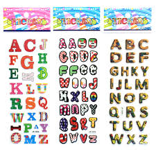cute english letters digital cartoon bubbles stickers english cute english letters digital cartoon bubbles stickers english alphabet a z diy wall stickers for kids birthday gift rewards in stickers from toys