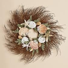 twig wreath 24 inch twig wreath with flat shells sand dollars
