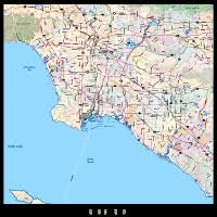 los angeles map pdf editable los angeles metro area map with shaded relief