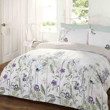 Sanderson Dandelion Clocks Duvet Cover Bedroom Blue Stripe King Size Duvet Covers With Nightstand And