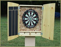 Dart Board Cabinet Plans Dart Board Cabinet Home Design Ideas