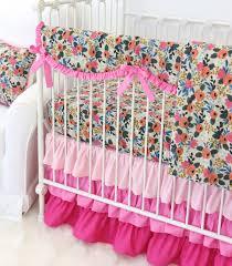Pink Floral Crib Bedding S Pink Floral Baby Bedding Swatch Kit Caden
