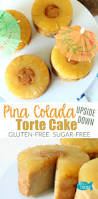 gluten free sugar free piña colada pineapple upside down torte cakes