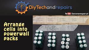 diy tesla powerwall arrange 18650 cells into diy tesla powerwall packs youtube
