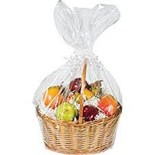 cello wrap for gift baskets large cellophane basket bag clear home kitchen