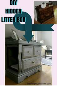 litter box end table repurposed end table to hidden litter box litter box box and cat