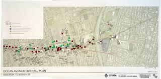 San Francisco Planning Map by Ocean Avenue Corridor Design Planning Department