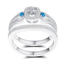 aquamarine wedding aquamarine wedding ring sets lajerrio jewelry