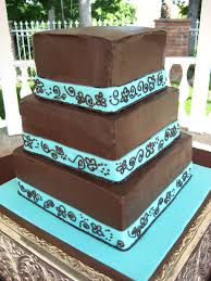 brown and turquoise wedding cakes my sweet and saucy my sweet