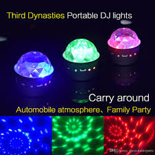 multi colored strobe light portable multi color sound activated music rhythm light car dj light