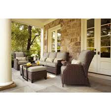 Richard Frinier Brown Jordan by Brown Jordan Vineyard Patio Sofa With Meadow Cushions And