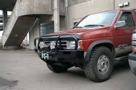 nissan pickup 1997 custom arb 4x4 accessories 3438050 front deluxe bull bar winch mount