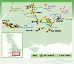 thames river map europe southern england boat holidays thames bath and oxford canal boat hire
