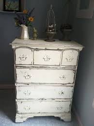 black shabby chic furniture white over black and sanded by