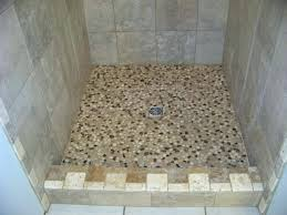 pebble tile shower floor splendid image of bathroom decoration using stand up shower ideas fabulous small pebble tile shower floor