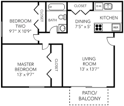 700 square feet apartment floor plan alpena 2 bed 1 bath 700 sq ft aspen chase apartments in