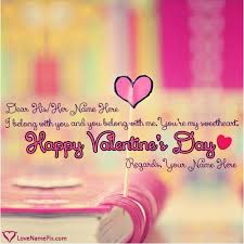 name on happy valentines day greetings messages picture