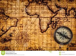 Ancient Map Old Vintage Compass On Ancient Map Stock Photo Image 57227809