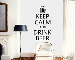 Wall Quotes For Living Room by Cool Stickers Keep Calm And Drink Beer Wine Vinyl Wall