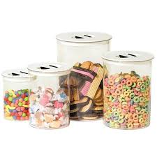 oggi kitchen canisters oggi stack n store 4 canister set free shipping on orders