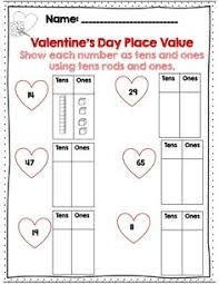 valentine u0027s day math print and go activity pages for first grade
