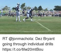 Dez Bryant Memes - rt dez bryant going through individual drills httpstco6lw20mtbou
