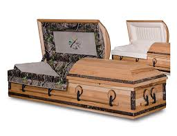 camo casket rustic hickory hardwood casket