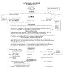 skills resume exles skills section of resume sop
