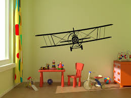 monogram wall decals for nursery biplane airplane vinyl wall decal graphics 40