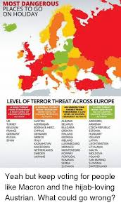 most dangerous places to go on level of terror threat across