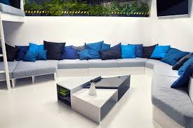 Contemporary Office Design Ideas Office And Workspace Designs Large Couch With Throw Pillows In