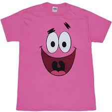 spongebob shirts patrick star face pink t shirt by animation