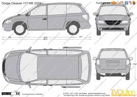 the blueprints com vector drawing dodge caravan 113 wb