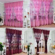 Pink And Purple Curtains Luxurious Upscale Jacquard Yarn Curtains Tulle Voile Door Pink