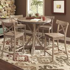 rustic pub table and chairs largo callista rustic casual counter height dining table set