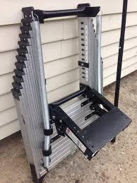 39 werner aluminum attic ladder werner 8 ft 10 ft 25 in x 54 in