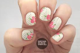 the perfect polka dot and floral nails to celebrate valentine u0027s