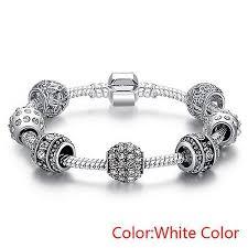 bracelet color crystal images Silver plated crystal bead charm bracelet diyosworld jpg