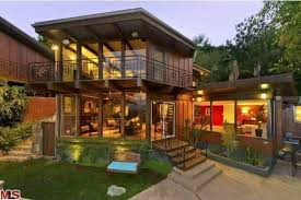 Great Wood And Glass Home Design With Porch Swing custom wood