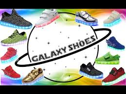 Galaxy Led Shoes Light Up Sneakers Led Light Shoes Youtube