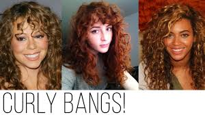 how to cut your own curly hair in layers types of bangs for curly hair youtube