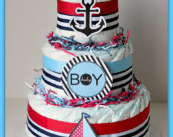 nautical baby shower cakes nautical baby shower etsy