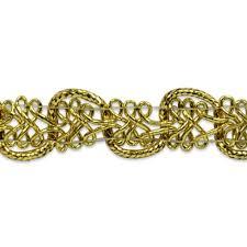 gold metallic braid sewing craft trim