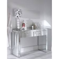 wood and mirrored console table console table romano mirrored console table target with drawers